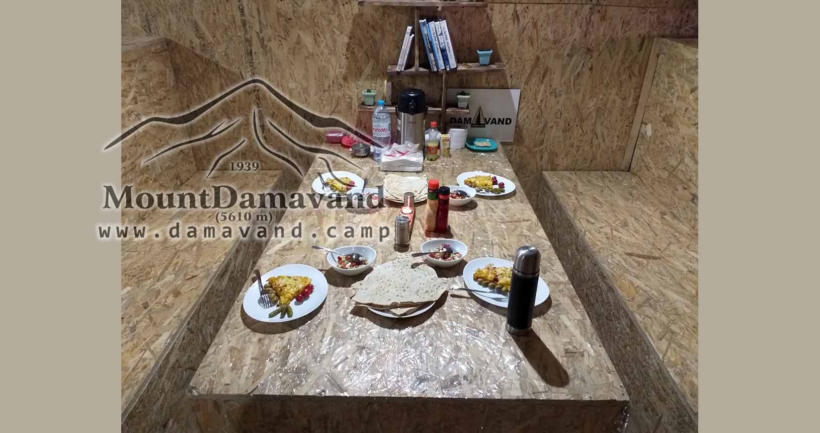 Meals in Damavand Camp 3 (Renovated Old Hut)