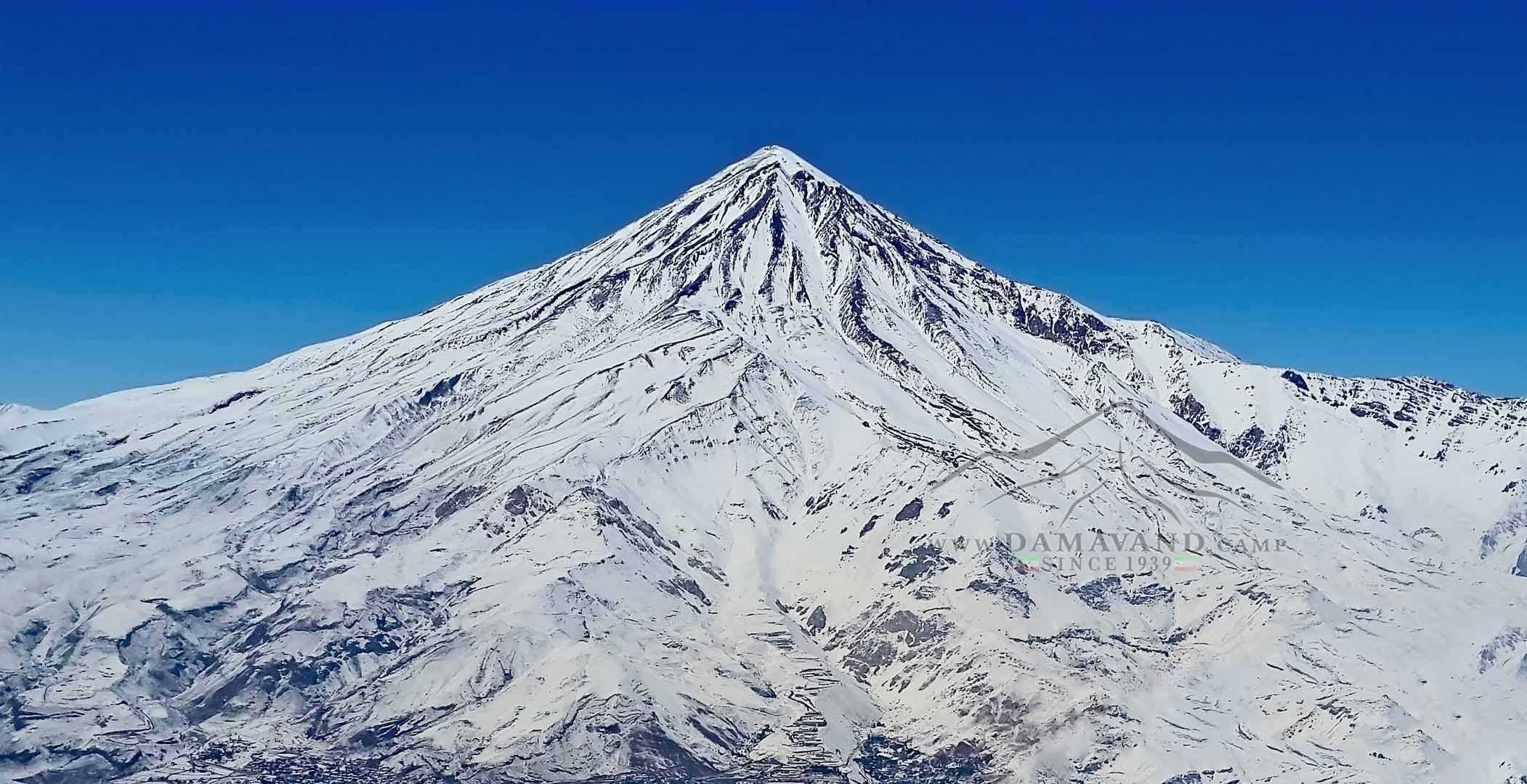 Winter View of Mount Damavand